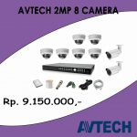 PAKET 8 Camera 2 MP Avtech